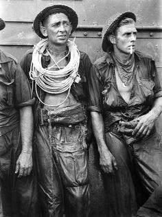 Norman Stuckey, Engineers exhausted. Tarakan, 1945