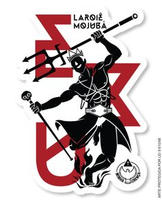"Eshu/Exu by MinhaCrença (Brazil). ""Laroyê Mojuba"": ""Divine Messenger, we revere you"". African Mythology, Warm Blonde, Africa Art, Man And Dog, Orisha, Retro, Tattoos, Perspective, Wallpapers"