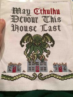 Someone should hang this in the conference room #cthulhu #crossstich