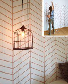 paredes pintadas con motivo espiga