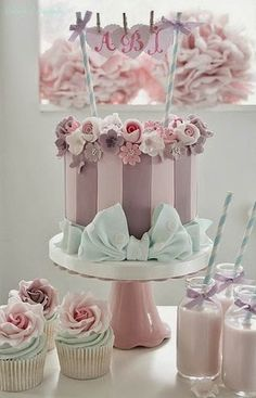 Cake Wrecks - Home - Sunday Sweets: Filibuster Edition, pretty stripes, bows and flowers