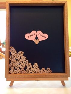 Solid Oak Wood Drop Top Guestbook with black or by ACFcustoms, $120.00