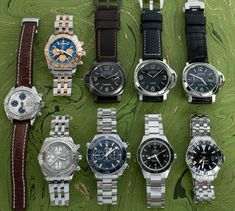 Three Panerai Luminors, three Omega Seamasters, and three Breitling Chronographs have been posted to the site.  Additional photographs, pricing, and information are available on our website. Breitling Chronograph, Popular Watches, Mechanical Watch, Whats New, Omega, Photographs, Website, Accessories, Fotografie