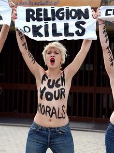 FEMEN Sweatshirt Religion Kills