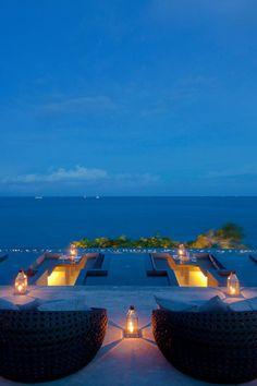 Sip a sundowner on the lantern-lit terrace. #Jetsetter Silavadee Pool & Spa Resort