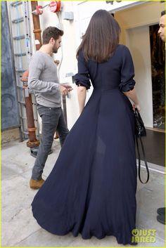 Kendall Jenner Long Navy Light Coat