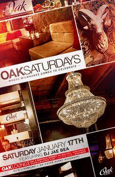 This Saturday night at Oak Lounge Milwaukee! DJ JaeBea for Oak Saturdays
