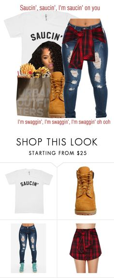 """""""White Iverson x Post Malone"""" by juicyums ❤ liked on Polyvore featuring Urban Outfitters, Timberland and Mustard Seed"""