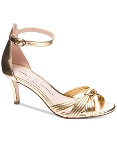 Designer Clothes, Shoes & Bags for Women Gold Sandals, Gold Heels, Dress Sandals, Strappy Sandals, Shoes Sandals, Monk Strap Shoes, Chinese Laundry, Kitten Heels, Footwear