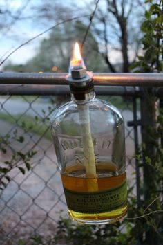 DIY Liquor Tiki Lantern- Hard Knox Homestead