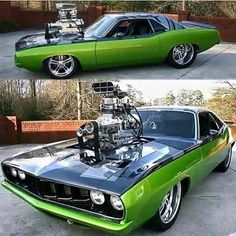 The real Badass from Mopar Plymouth Muscle Cars, Dodge Muscle Cars, Custom Muscle Cars, Custom Cars, Cool Muscle Cars, Plymouth Barracuda, Us Cars, Car Engine, Modified Cars