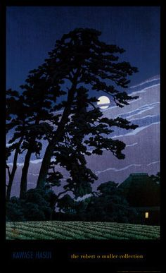 """Moon at Magome"" by Kawase Hasui"