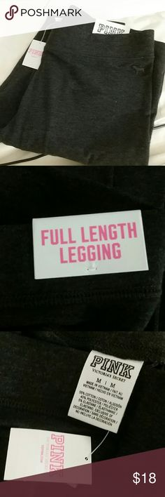 Pink full length leggings black & gray size L & M Brand new with tags   I have a Medium size in gray color And a Large size in black color  This price is for one of the leggings only I have the matching holiday shirts in size M and L , check them on my closet :)  I will need around 2 days to ship because I am traveling PINK Victoria's Secret Pants Leggings
