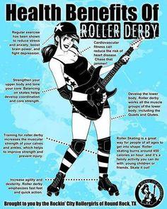 o glad I am starting derby back up!| Health benefits of Roller Derby