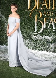 Emma Watson Went Full Cinderella for the Beauty and the Beast Premiere via @WhoWhatWear