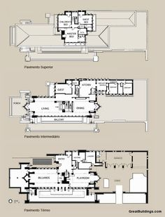 images about Prairie School on Pinterest   Frank Lloyd    Floor Plan of the Robie House  Frank Lloyd Wright  Hyde Park  Illinois