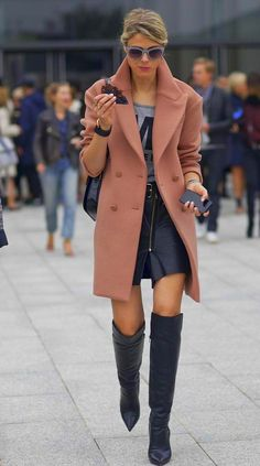 Leather and coat