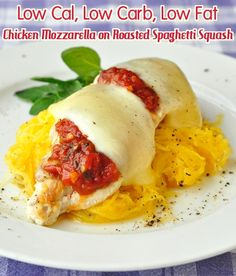 Low Fat Low Carb Chicken Mozzarella with Roasted Spaghetti Squash - Rock Recipes http://papasteves.com/blogs/news/6711168-monsanto-roundup-weedkiller-and-gm-maize-implicated-in-shocking-new-cancer-study