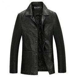 Men's Black leather Jacket. May get this .