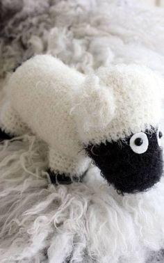 Crochet a sheep for Christmas decoration! Get instructions in Finnish from Novita.fi  YARN: NOVITA SOFTY (or NOVITA TEDDY)