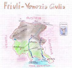 Il Friuli Venezia Giulia Il Friuli Venezia Giulia è la regione più orientale d'Italia. Il suo territorio presenta tre zone: a nord ... Bullet Journal, Education, Geography, Italy, Learning, Teaching, Studying