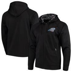 Men s Carolina Panthers Zubaz Black Digi Camo Full-Zip Raglan Hoodie 35e05ac37