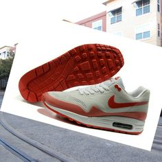 Nike Air Max 1 Hyperfuse Women White Orange red sport Shoes HOT SALE �� HOT PRICE