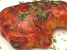 Oven barbeque chicken hindquarters