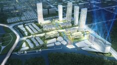 Image 2 of 6 from gallery of Wuxi Masterplan: Mixed Use Building Complex Proposal / ATENASTUDIO. Photograph by ATENASTUDIO