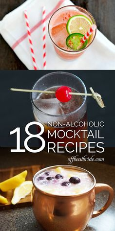 Mocktail recipes for weddings from @offbeatbride