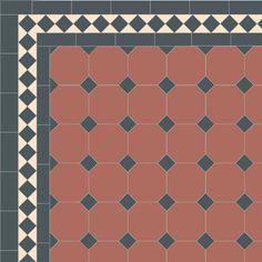 London Mosaic Victorian tile design: Octagon 150