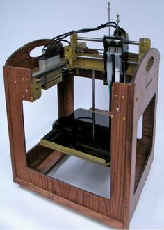 A taste of the future or a blast from the past? Jeff recently posted this 3d printer on Fab@Home, a place where it can be pretty tough to stand out from the crowd when it comes to DIY fabbers. With brass detailing and stained timber this fine machine would be at home in a High …