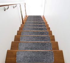 Plush Touch Shaggy Stair Treads for Slippery Stairs with Non-Slip Premium Latex Rubber Backing [ 8.5'' x 28'' ] by Remnaz on Etsy Bed Steps, Stair Steps, Slippery Stairs, Step Treads, Hardwood Tile, Granite Stone, Easy Home Decor, Mold And Mildew, Rugs On Carpet