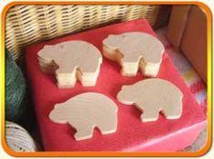 Bears 5.7cm x 10 - Bear wooden craft shapes x 10