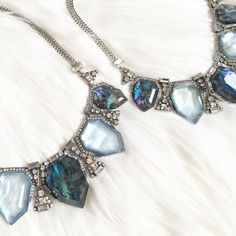 🆕 OJDC Statement Necklace Hypoallergenic, lead and nickel free. Made with resin, and crystals for the perfect Blue, Bold, and Beautiful look. Ocean Jewelers Jewelry