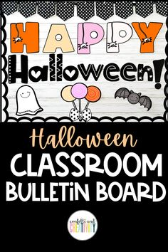 Introducing a not so scary, kid friendly Halloween bulletin board display! You and your students will love the fun fonts and friendly faces on this board. This kit comes in 2 different colors: the colors in the main picture and also in the traditional Halloween colors. This bulletin board kit is so easy to set up and can be used for many years to come! Halloween bulletin board ideas. Halloween classroom decor. #classroomdecorideas #bulletinboardideas #elementaryclassroomdecor Classroom Walls, Classroom Bulletin Boards, Classroom Themes, Fall Classroom Decorations, Halloween Bulletin Boards, Fun Fonts, Bulletin Board Display, Middle School Classroom, Halloween Coloring