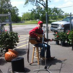 Playing at the Produce Shed in Pine Bluff 4-21-2012.
