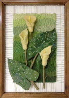 Weaving Art, Tapestry Weaving, Loom Weaving, Nylon Flowers, Fabric Flowers, Textile Sculpture, Textile Art, Wet Felting, Needle Felting