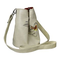 Fish koi Cream Bucket bag Cylinder Custom handmade bag Vegan Leather Crossbody Embroid bag Needlepoint Fish on the bag Handcrafted tote Leather Crossbody, Leather Bag, Crossbody Bag, Leather Choker Necklace, Embroidered Bag, Unique Bags, Christmas Bags, Everyday Bag