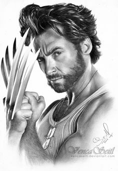 Wolverine is one of my all time favoutite characters, and Hugh Jackmans wolverine in the x-men movies was spot on. So i decided to do a graphite drawing. Hugh Jackman Wolverine drawing (no background) Marvel Wolverine, Wolverine Tattoo, Marvel Comics, Logan Wolverine, Marvel Comic Universe, Marvel Art, Ms Marvel, Captain Marvel, Hugh Jackman