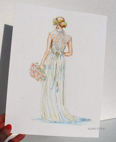 Custom Wedding Dress Portrait/Bridal by KJaneStudio on Etsy