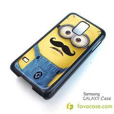 MINION MOUSTACHE Despicable Me Samsung Galaxy S2 S3 S4 S5, Mini, Note, Tab Case Cover