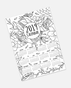 Free 2019 Monthly Calendar Printable: Cute and Colorful