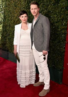 Ginnifer Goodwin Shows Off Her Baby Bump in a Sheer White Dress from InStyle.com