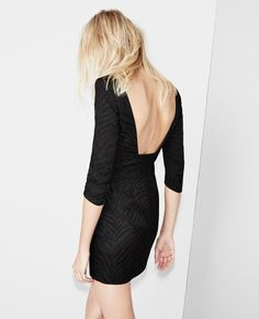 Shiny Tiger structured dress with bare back - Dresses - Women - The Kooples