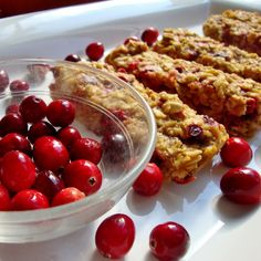 Pumpkin Cranberry Oat Bars from Real Food Real Deals
