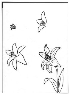 Flower Drawing Art class ideas: Drawing a Flower Doodle Drawings, Easy Drawings, Doodle Art, Drawing Sketches, Pencil Drawings, Sketching, Easy Flower Drawings, Simple Flower Drawing, Drawing Step