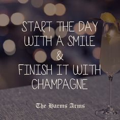 End the day with Champagne!!