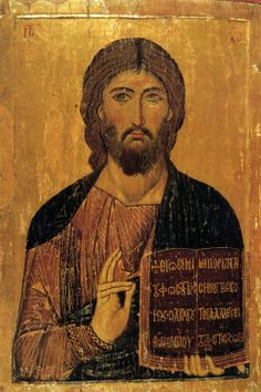 icon of Sinai Christ Pantocrator Christ from the Grand Deeisis, St Catherine's monastery, Sinai Religious Images, Religious Icons, Religious Art, Byzantine Icons, Byzantine Art, Christus Pantokrator, Saint Catherine's Monastery, Saint Esprit, Spirituality