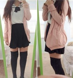 I  wish My school uniform was like this.. A little too short but still cute<<< I wish my school had uniforms